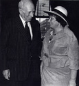 Bella Abzug and Mayor Corning