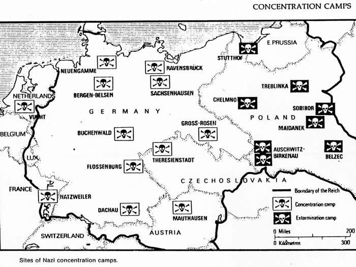 Maps Showing NatzweilerStruthof - Germany map of concentration camps